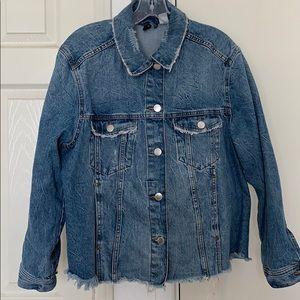 Distressed denim jacket H&M